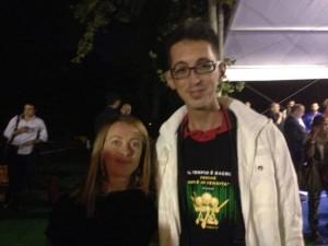 Romualdo Parisi con Giorgia Meloni, leader di Fratelli d'Italia.